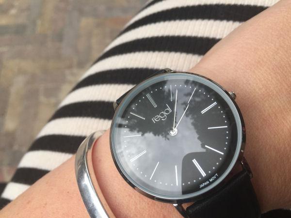 horloge lucardi zilver met goud